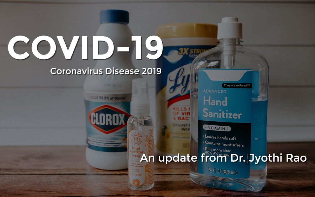 COVID-19 Update For Our Patients